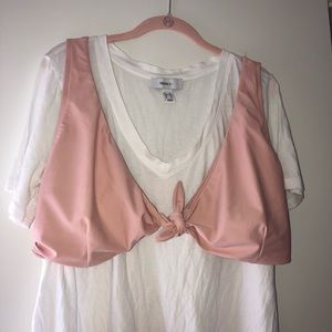 Plus Size Pink Bikini Top
